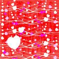 Valentines day paper heart card illustration Stock Photo