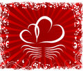 Valentines day paper heart card illustration Royalty Free Stock Images