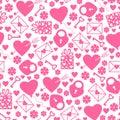 Valentines day pattern seamless