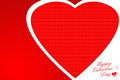 Valentines day red paper heart card with sign on ornate Royalty Free Stock Photo