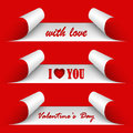 Valentines day red stickers vector eps Royalty Free Stock Image