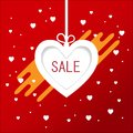 Valentines day sale background in Heart Shaped Balloons. Vector illustration.banners brochure, voucher discount