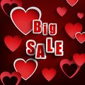 Valentines day with sale background