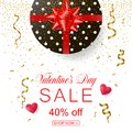 Valentines Day sale banner for online shopping. Vector illustrat Royalty Free Stock Photo