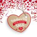 Valentines Day Sale Heart Confetti Hearts Carton Price Sticker Royalty Free Stock Photo