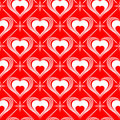 Valentines Day seamless pattern Stock Photos