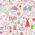 Valentines Day seamless pattern Stock Photo