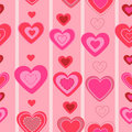 Valentines day seamless pattern.  heart Stock Photography