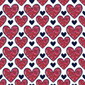 Valentines day seamless pattern with hearts. Royalty Free Stock Photo
