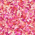 Valentines day seamless pattern with red, pink, pastel small hearts. EPS 10