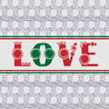Valentines day seamless pattern with text love Royalty Free Stock Images