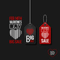 Valentines Day Set of Sale Tags design Background.