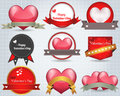 Valentines day shine lighting background vector de badges design Stock Image