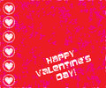 Valentines day stamp Royalty Free Stock Images