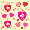 Valentines day stuff as hearts set Stock Images