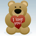 Valentines Day Teddy Bear Stock Photography
