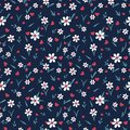 Valentines day themed hearts and flowers seamless pattern