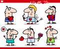 Valentines day themes cartoon illustration Royalty Free Stock Images