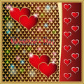 Valentines day valentina deco stars the classic the lightning the darling the romance red love heart Stock Images