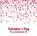 Valentines Day - vector greeting card with hearts white background