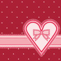 Valentines day vintage background vector illustration Stock Image