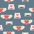 Valentines day or wedding seamless pattern background vector Stock Image