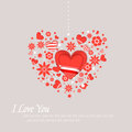 Valentines day and weeding cards Royalty Free Stock Photo