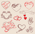 Valentines design elements Royalty Free Stock Image