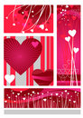 Valentines design set Stock Image