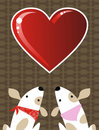 Valentines dog love background Royalty Free Stock Image