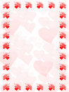 Valentines frame Royalty Free Stock Images