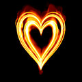 Valentines Heart burning fire  Royalty Free Stock Images