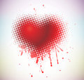 Valentines heart vector background illustration Royalty Free Stock Image