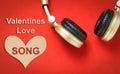 Valentines Love song Music headphone.