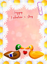 Valentines postcard Royalty Free Stock Photo