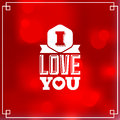 Valentines postcard red with high light Royalty Free Stock Image