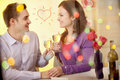 Valentines in restaurant Royalty Free Stock Photos