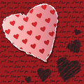 Valentines scrapbooking card Royalty Free Stock Image