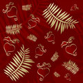 Valentines seamless red pattern Stock Photo