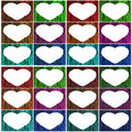 Valentines set of colorful photo frames Royalty Free Stock Photos