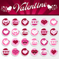 Valentines Stickers Stock Photos