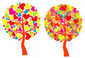 Valentines tree background,  Stock Image