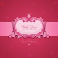 Valentines Vintage Greeting card. Royalty Free Stock Photography