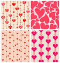 Valentines wallpapers prints with funny hearts Stock Images