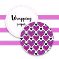 Valentines wrapping pattern with ornament hearts. Vector texture for packaging design,, wedding invitation background, textile fab Royalty Free Stock Photo