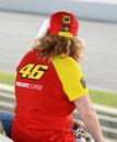 Valentino Rossi Fan Royalty Free Stock Photo