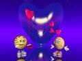Valentinsgrußliebe, Emoticon Stockbild