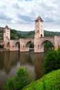 Valentre bridge in Cahors France Stock Photos