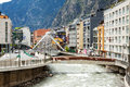 Valira river in andorra la vella andorra may at city may gran is biggest flows through Royalty Free Stock Photos