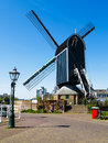 Valk de put windmill at the center of leiden city netherlands Royalty Free Stock Images
